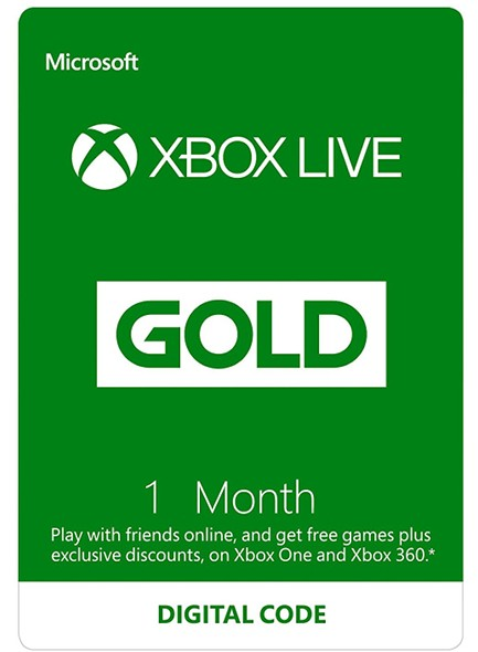 Xbox Live Gold Code 1 Month Membership